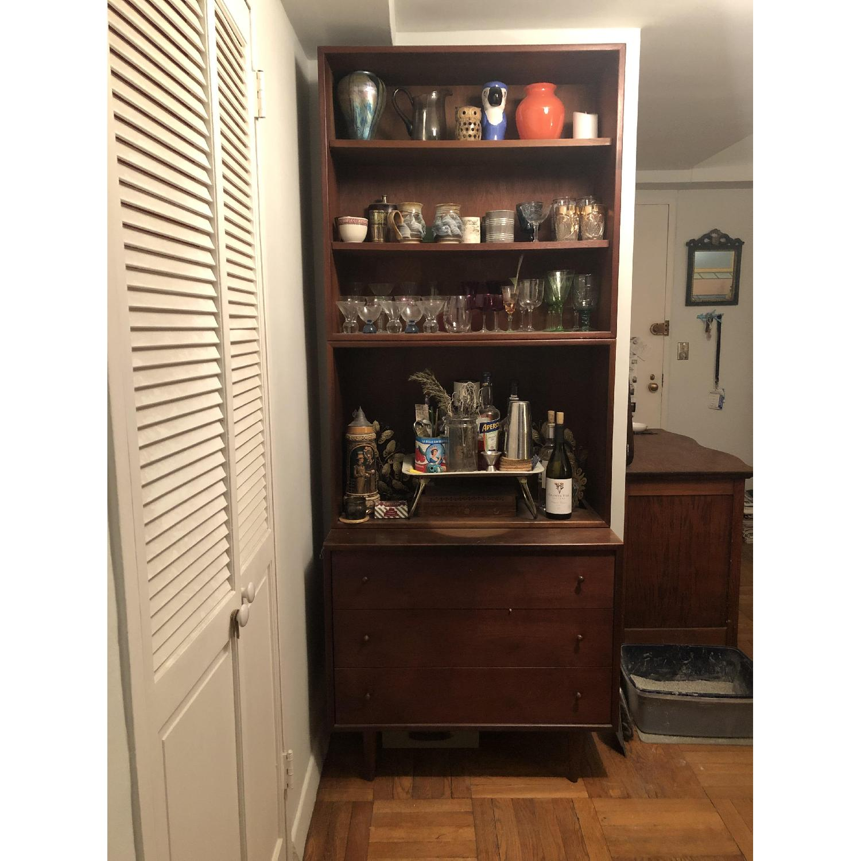 Ethan Allen Mid Century Modern Dresser w/ Bookshelf-1