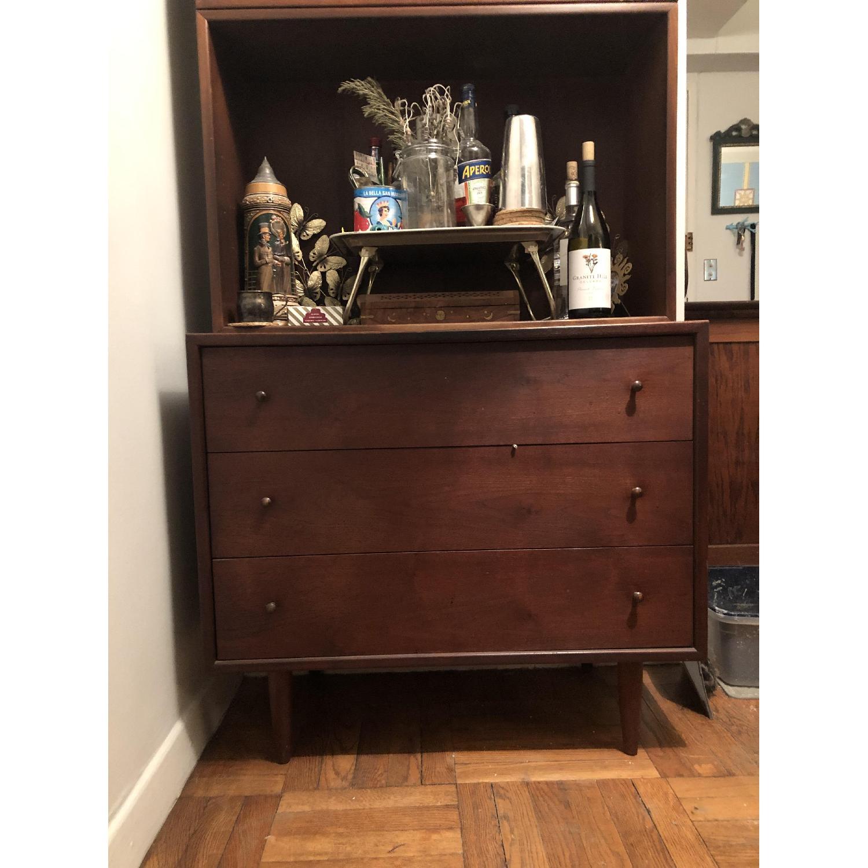 Ethan Allen Mid Century Modern Dresser w/ Bookshelf-2