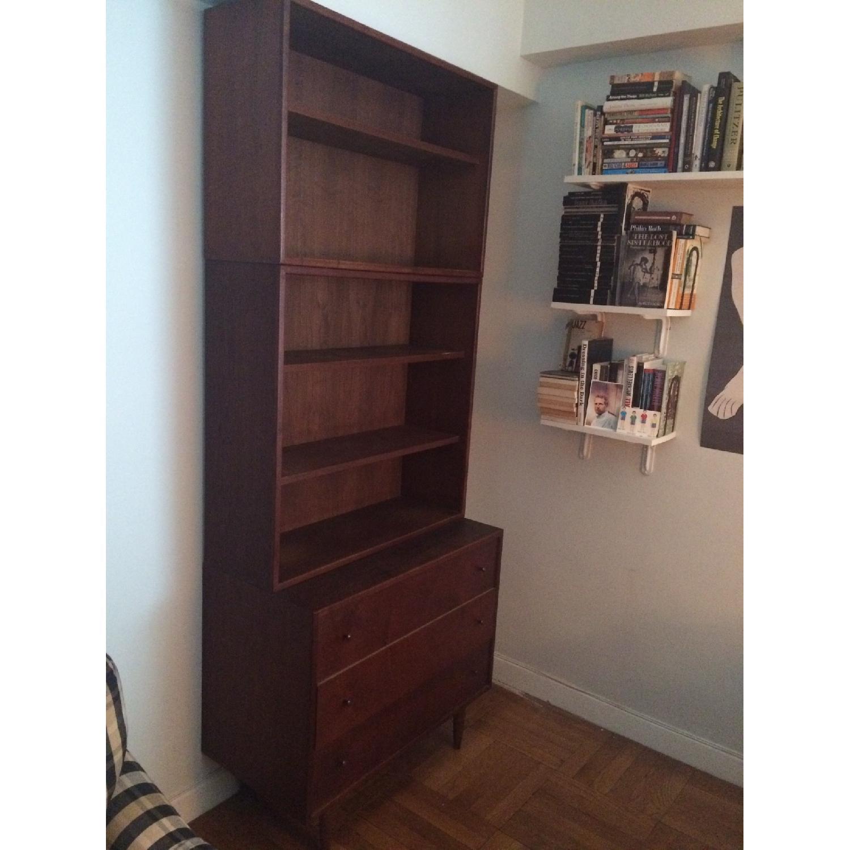Ethan Allen Mid Century Modern Dresser w/ Bookshelf-3