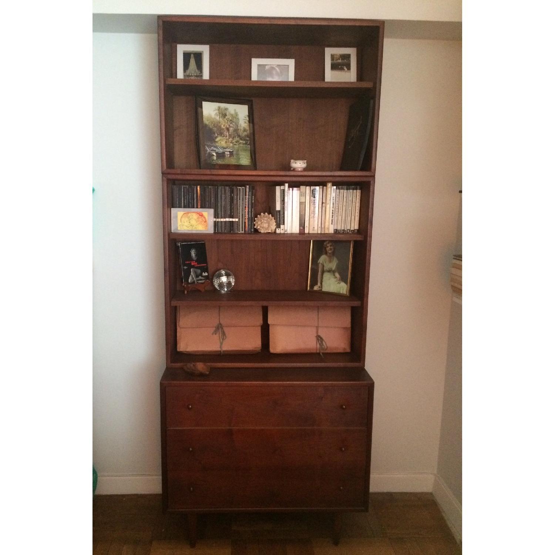 Ethan Allen Mid Century Modern Dresser w/ Bookshelf-4