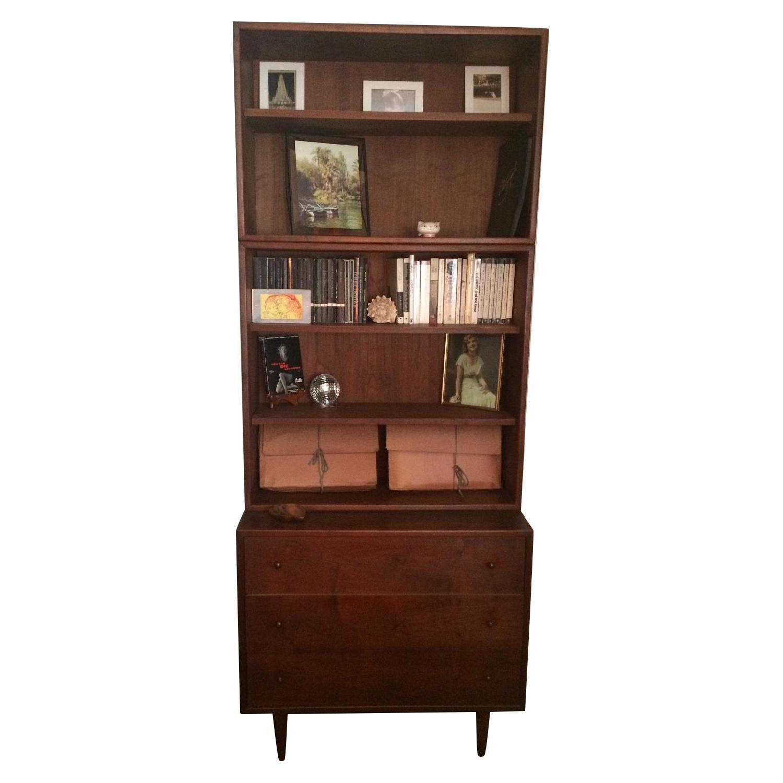 Ethan Allen Mid Century Modern Dresser w/ Bookshelf