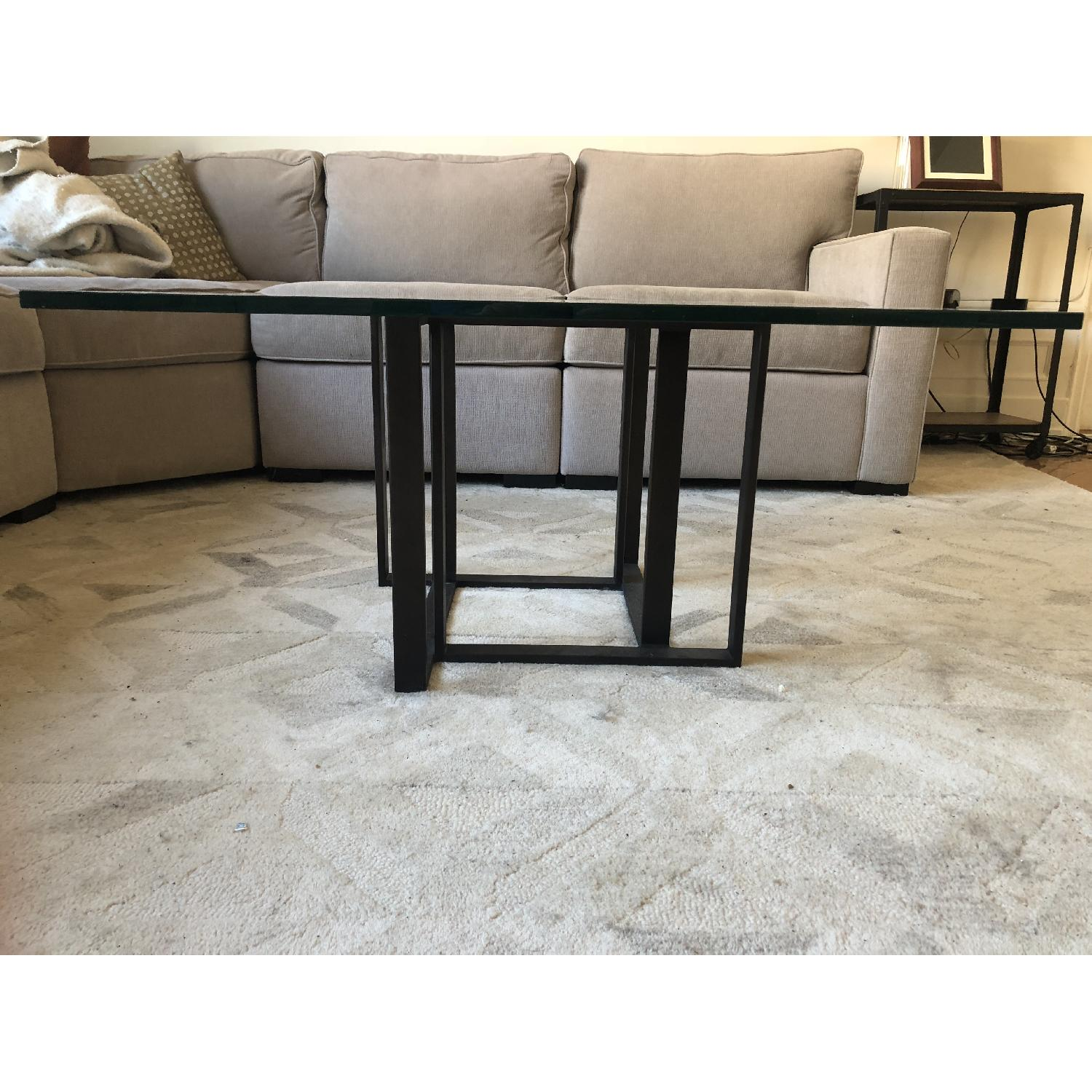 Crate & Barrel Glass Coffee Table-1