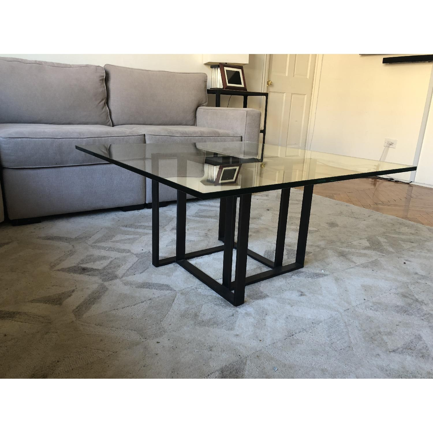 Crate & Barrel Glass Coffee Table-2