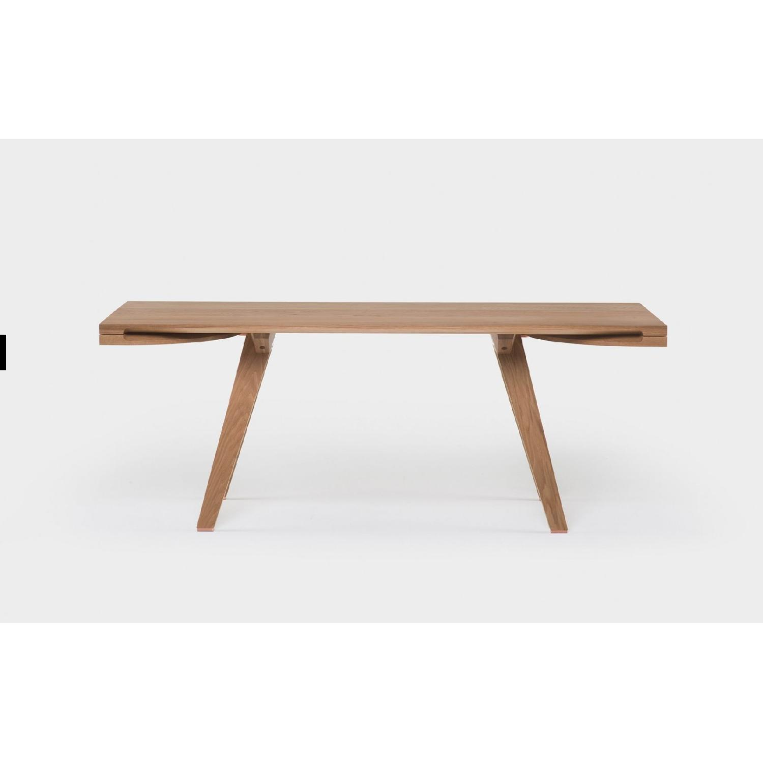 Studioilse Solid Walnut Dining Table w/ Padded Bench-1