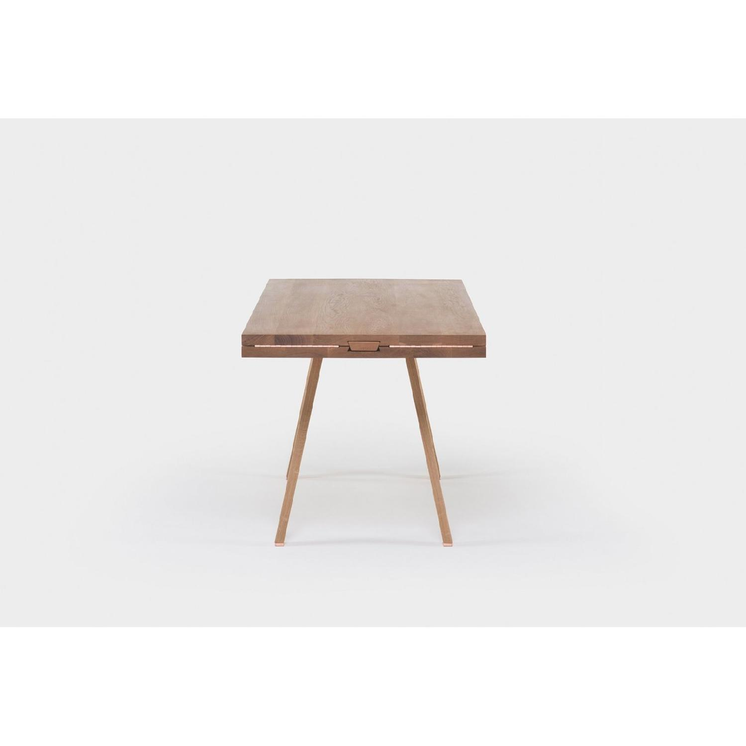 Studioilse Solid Walnut Dining Table w/ Padded Bench-2