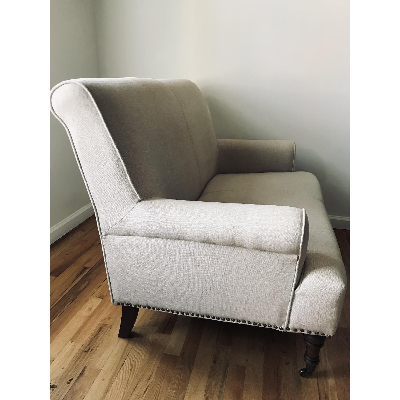 Abbyson Living Grey Linen Loveseat/Settee-2
