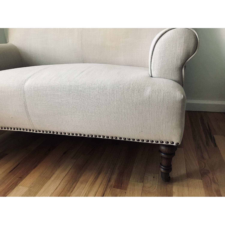 Abbyson Living Grey Linen Loveseat/Settee-4