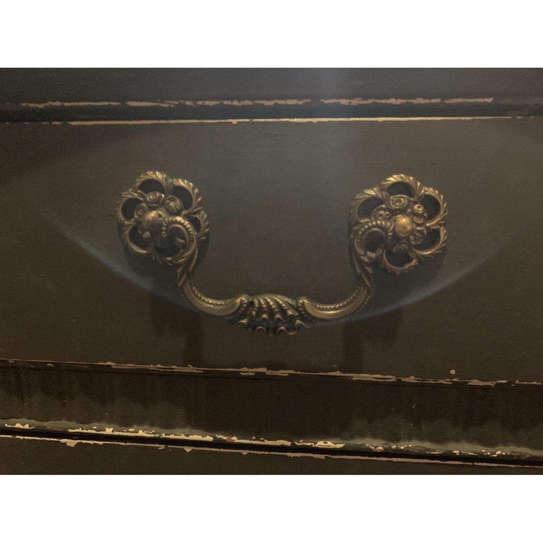 Vintage Art Nouveau Shabby Chalkboard Black Desk-4