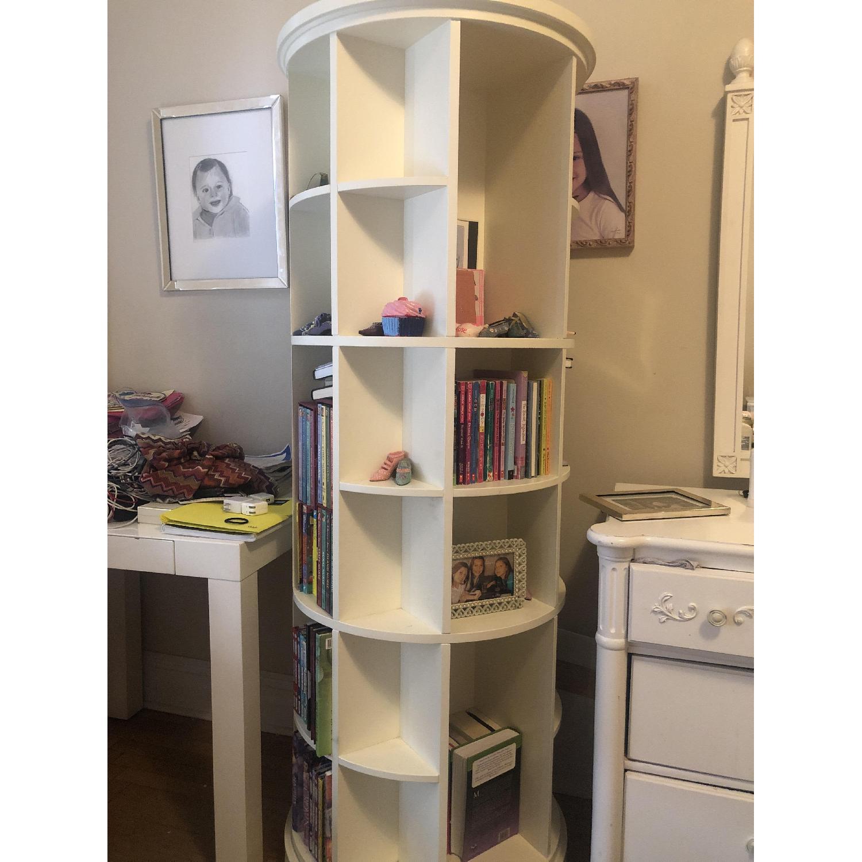 Pottery Barn Teen Revolving Bookcase-1