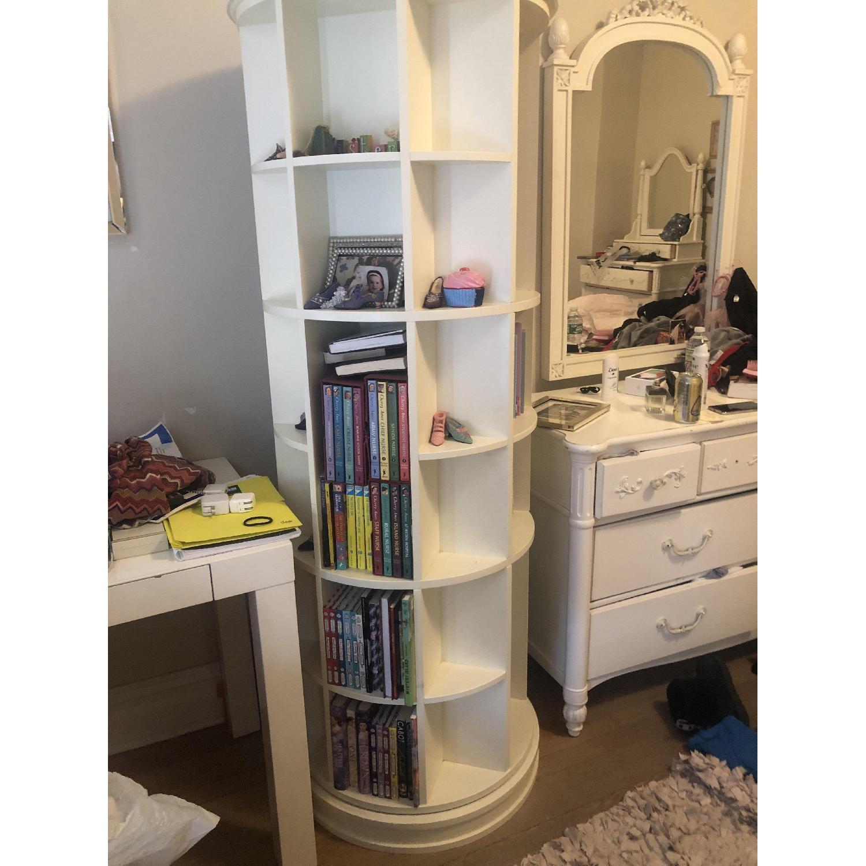 Pottery Barn Teen Revolving Bookcase-2