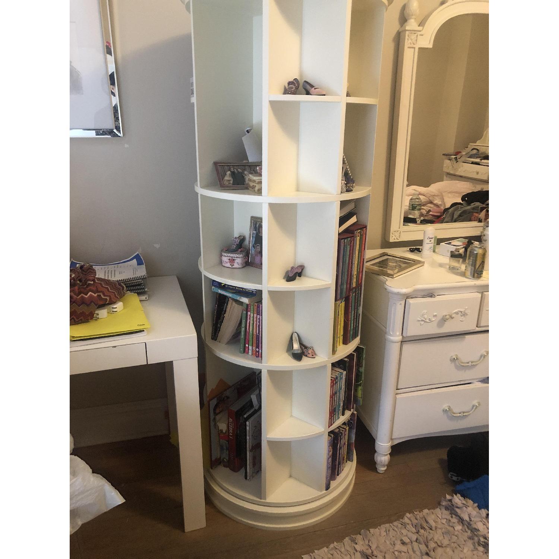 Pottery Barn Teen Revolving Bookcase-3