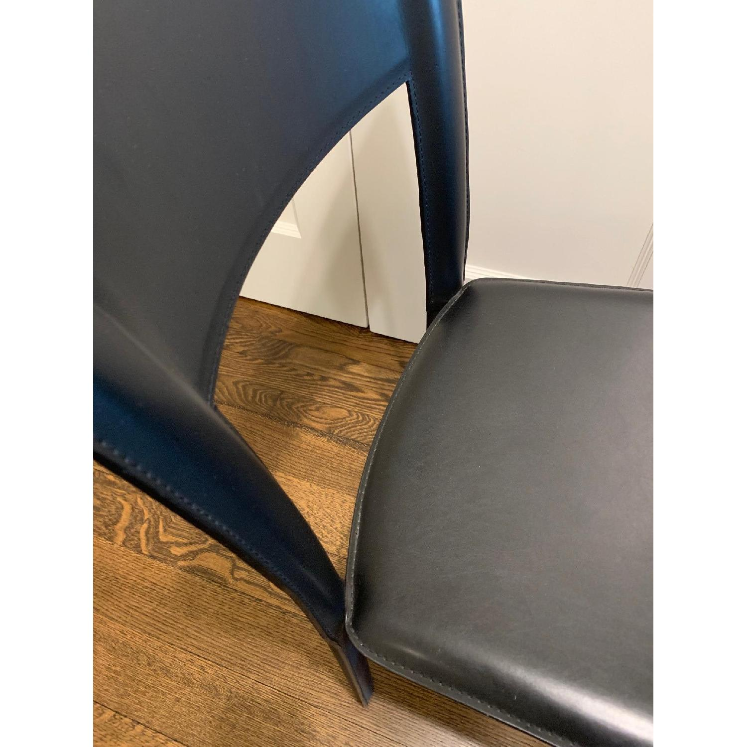 Room & Board Black Leather Dining Chairs-4