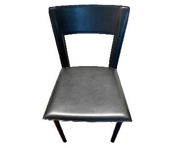 Room & Board Black Leather Dining Chairs