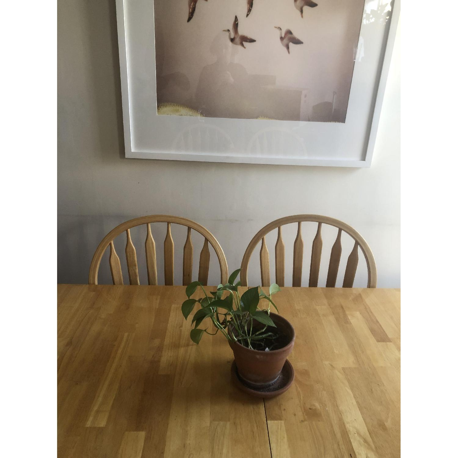 Farmhouse Style Extendable Dining Table w/ 6 Matching Chairs-1