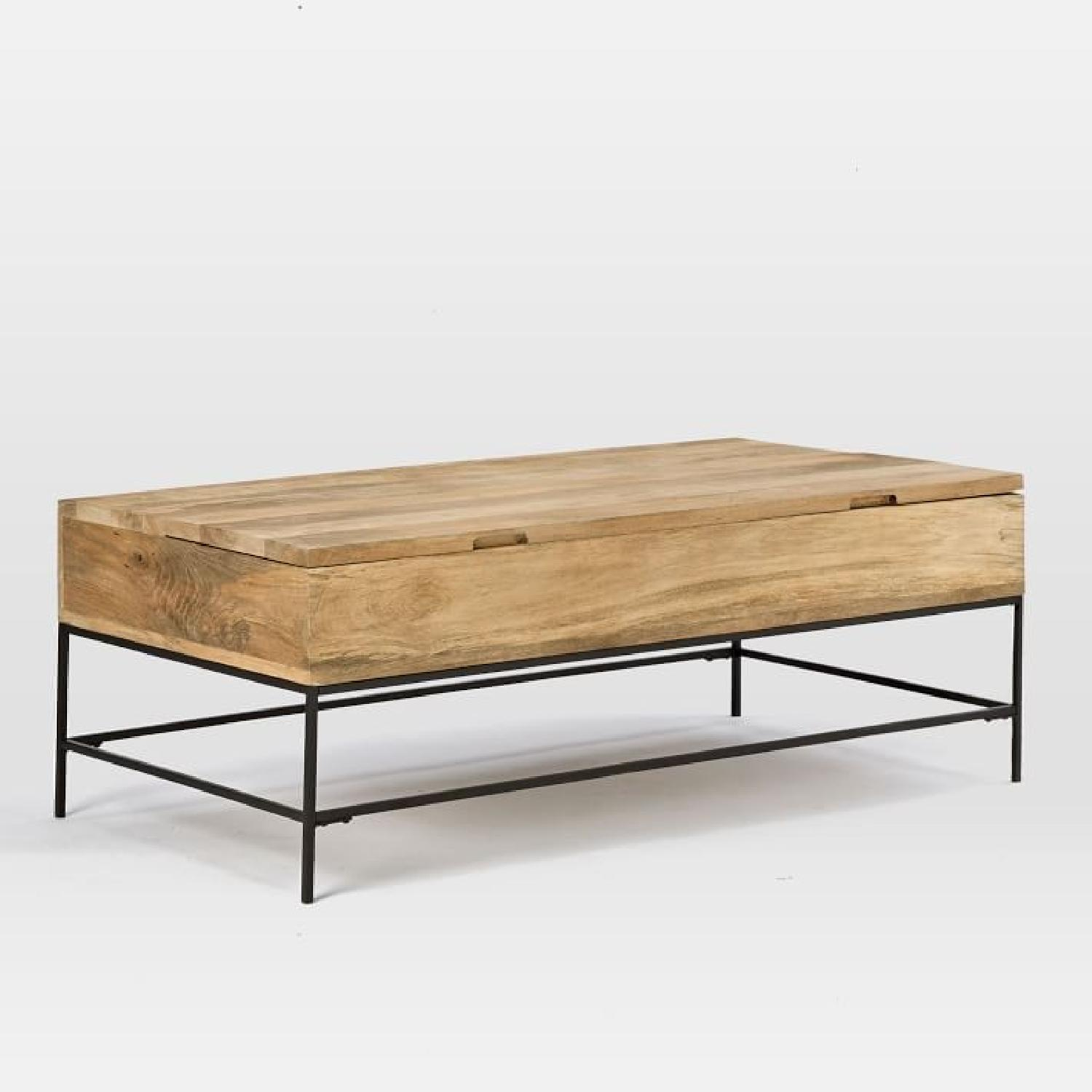 West Elm Industrial Storage Coffee Table-1