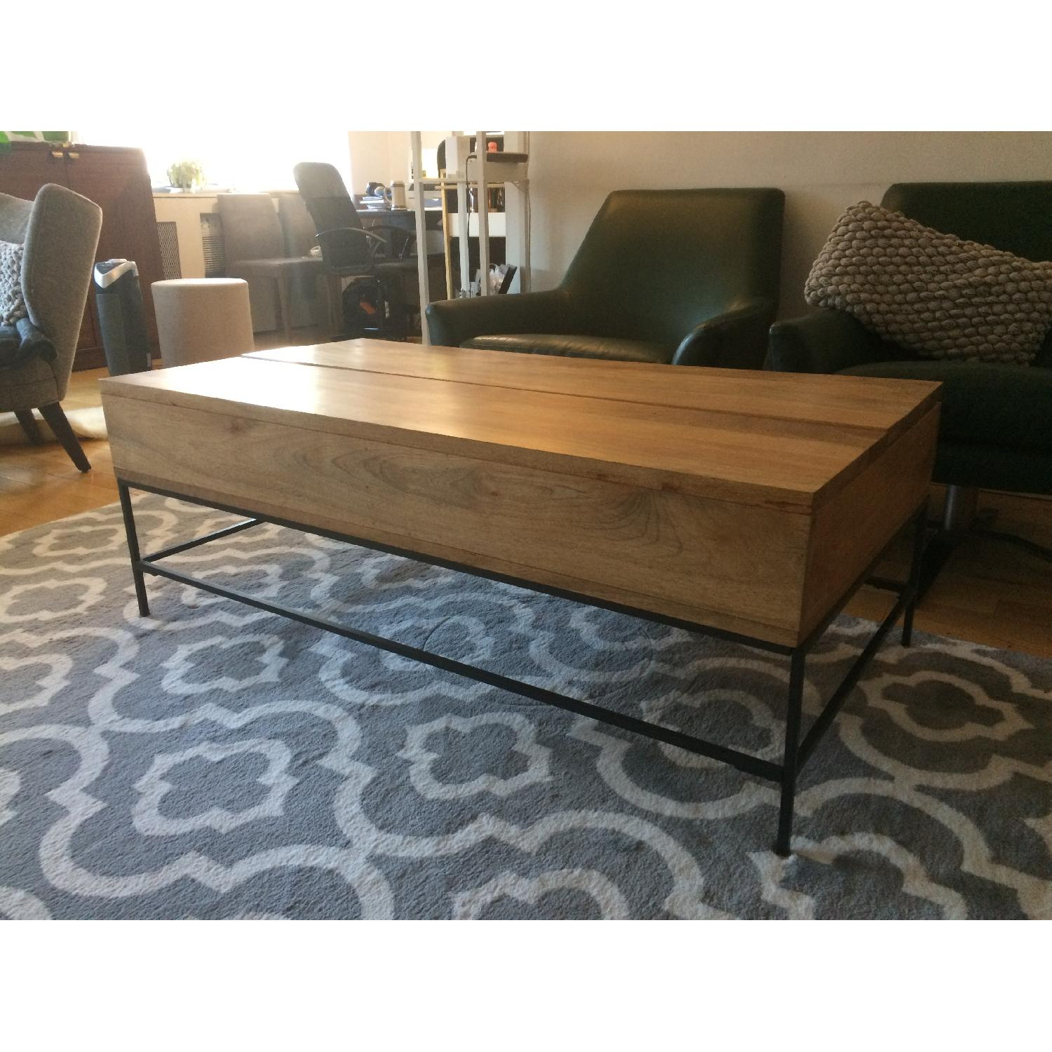 West Elm Industrial Storage Coffee Table-4
