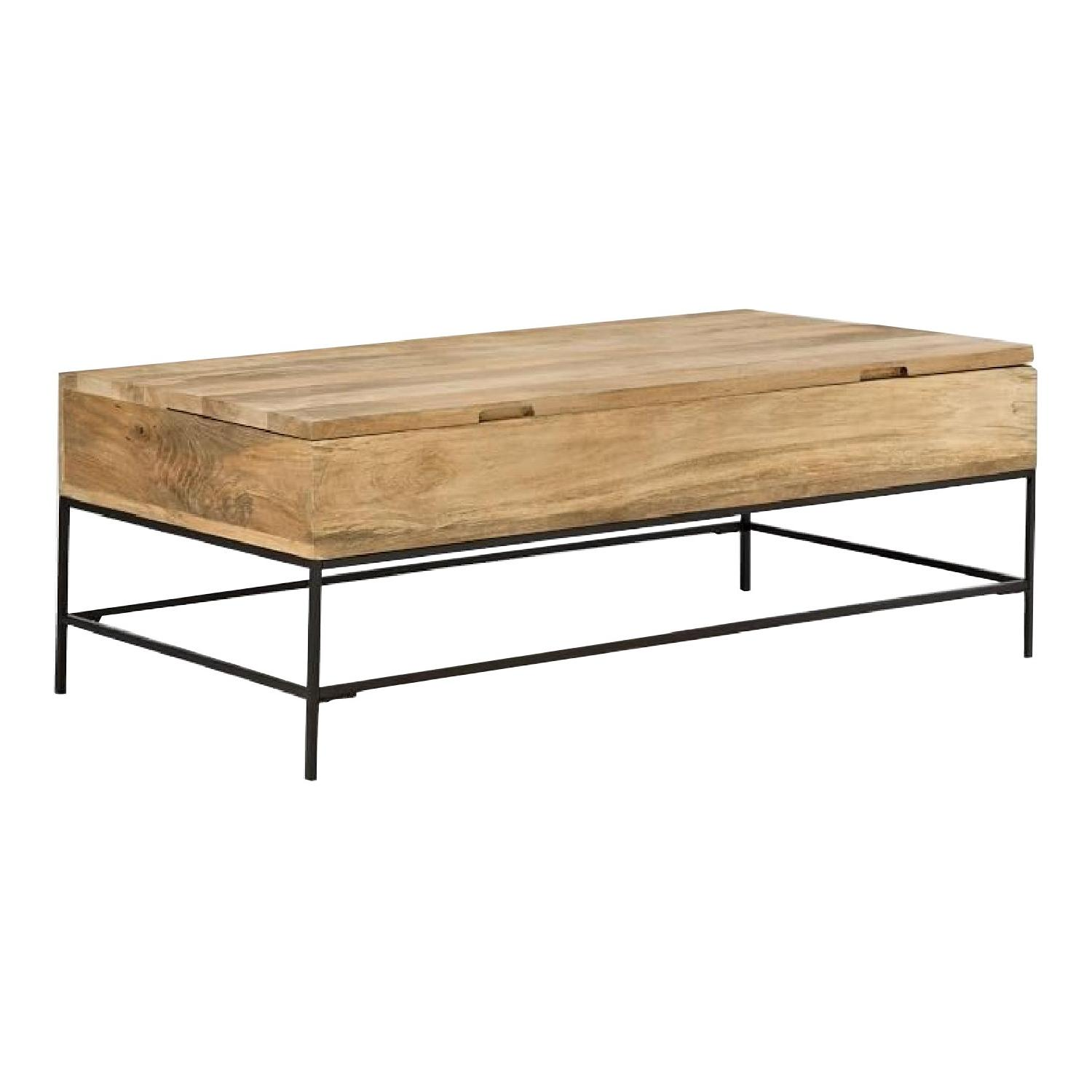 West Elm Industrial Storage Coffee Table