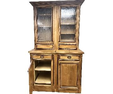 Brookwood 2 Piece Cabinet Pantry Hutch/Breakfront/Cabinet