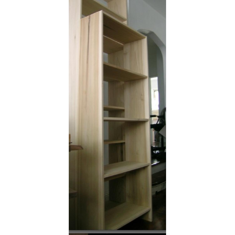 Solid Poplar Hardwood Bookcase-0