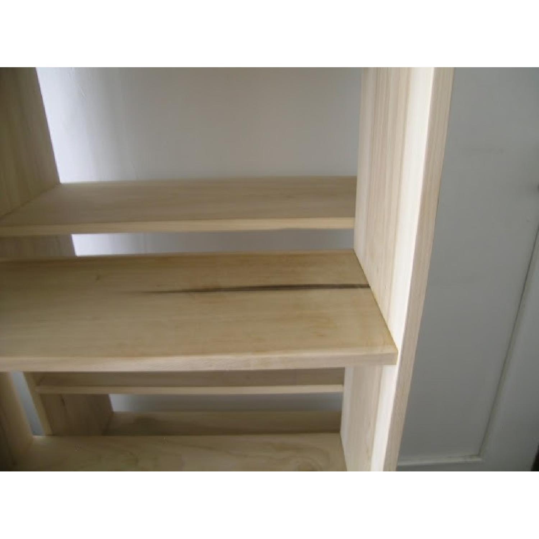 Solid Poplar Hardwood Bookcase-1