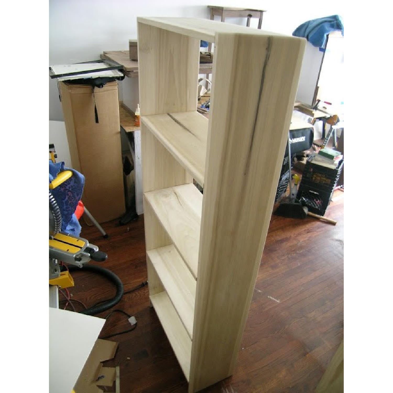 Solid Poplar Hardwood Bookcase-2