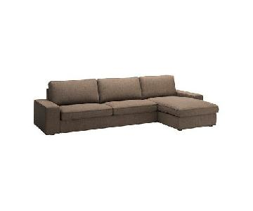 Ikea Kivik Brown Sectional Sofa w/ Chaise
