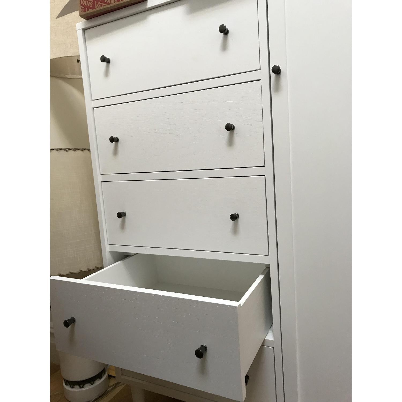 Crate & Barrel Barnes Solid Wood White Wardrobe-3