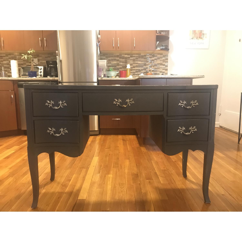 Vintage Grey Vanity Table-0