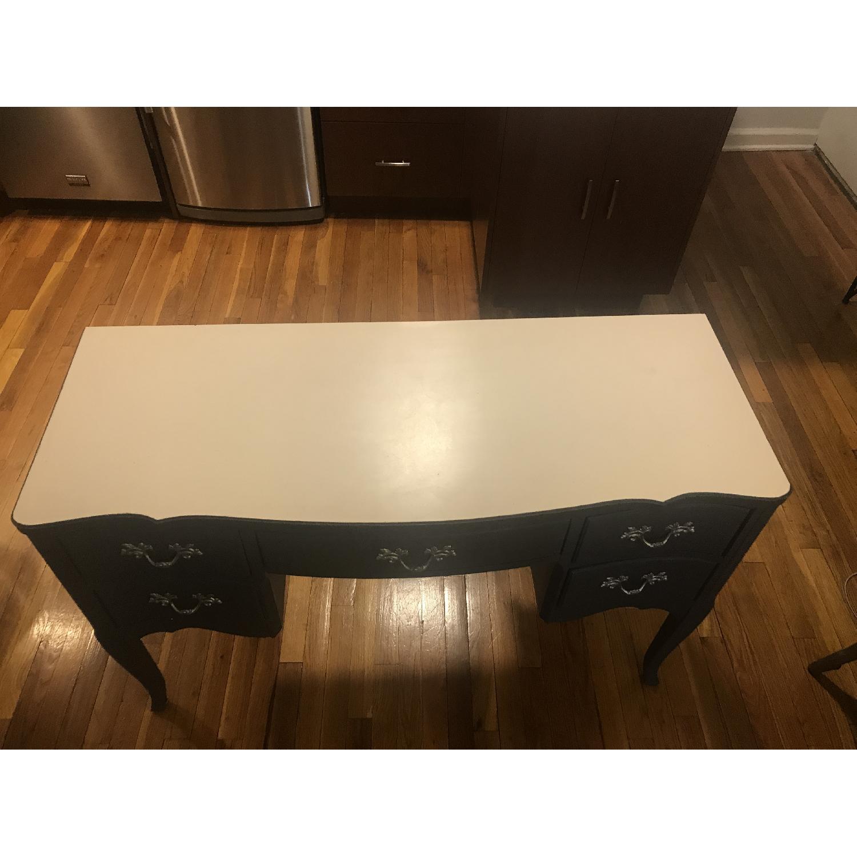 Vintage Grey Vanity Table-1