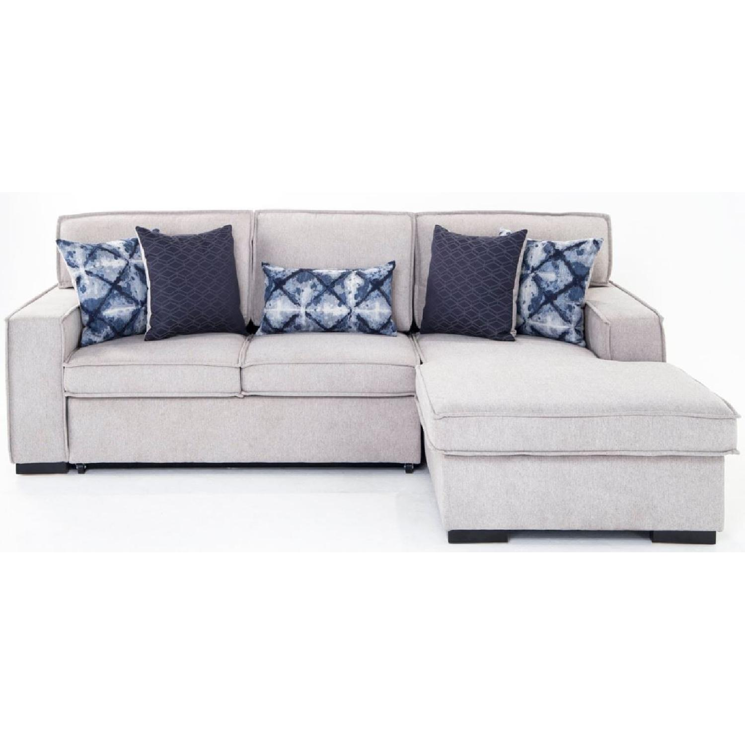 Bob's Playscape Gray Sectional Sofa
