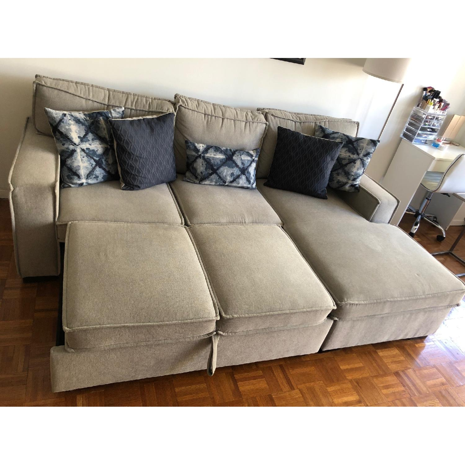 Bob's Playscape Gray Sectional Sofa-1