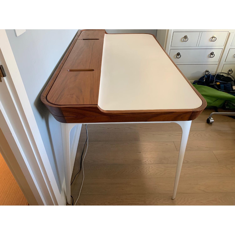 Herman Miller Airia White/Brown Desk & Chair-0
