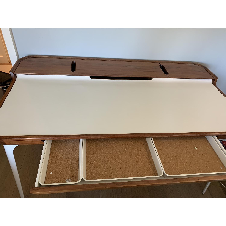 Herman Miller Airia White/Brown Desk & Chair-1