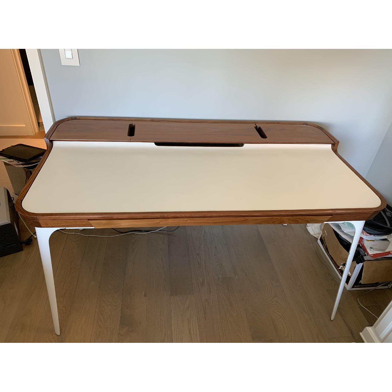 Herman Miller Airia White/Brown Desk & Chair-2