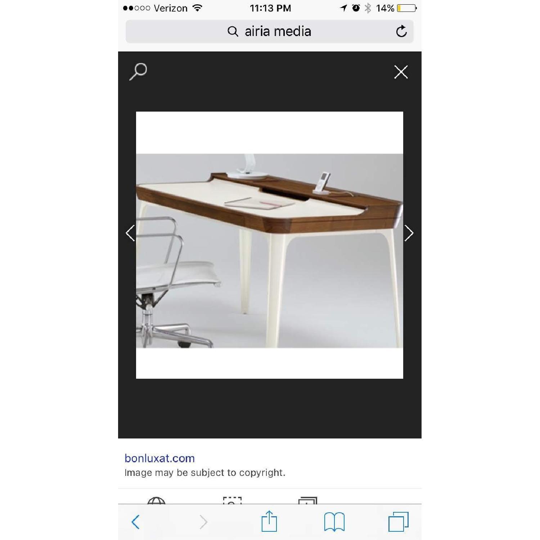 Herman Miller Airia White/Brown Desk & Chair-3