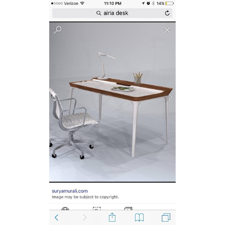 Herman Miller Airia White/Brown Desk & Chair