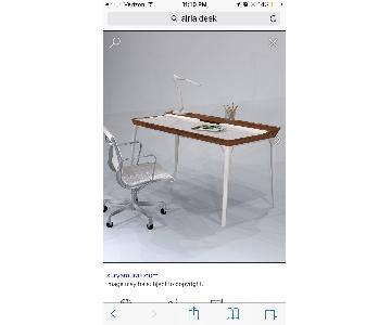 Herman Miller Airia White/Brown Desk & Chair