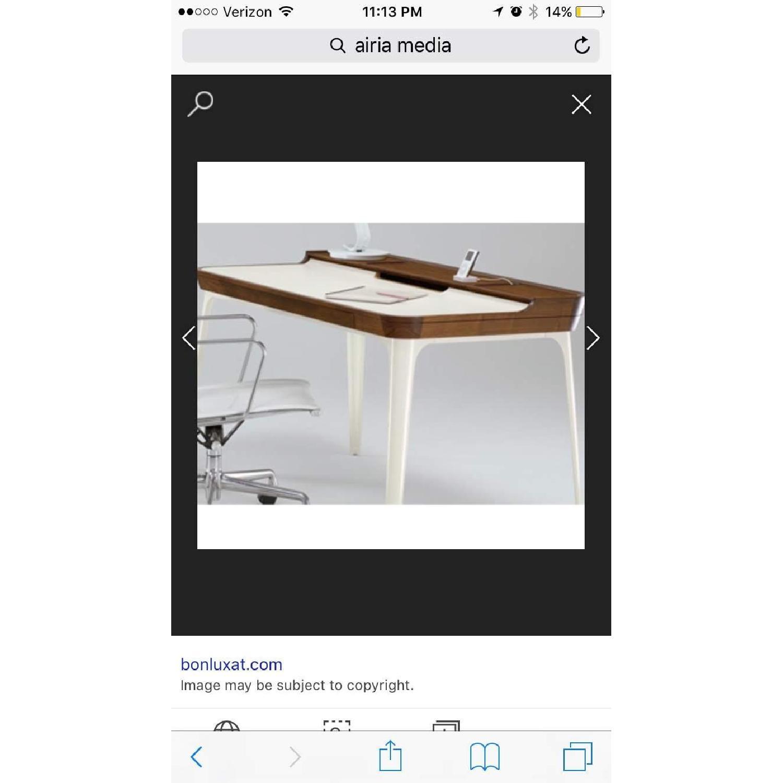 Herman Miller Airia White/Brown Desk & Chair-5
