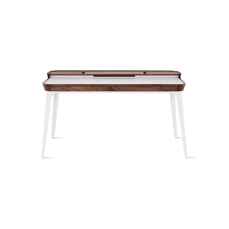Herman Miller Airia White/Brown Desk & Chair-7