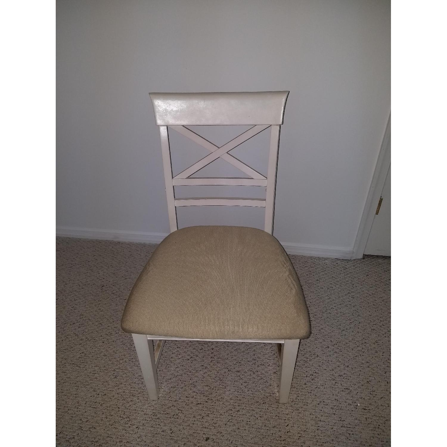 American Furniture Store White Dining Chairs-0