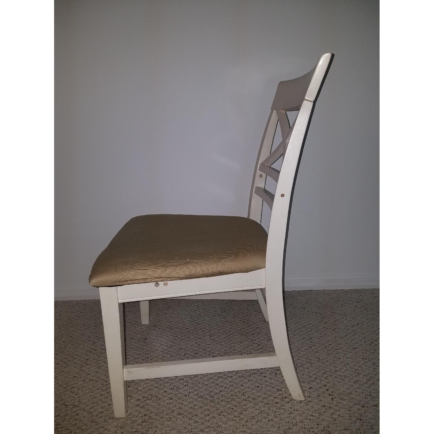 American Furniture Store White Dining Chairs-1
