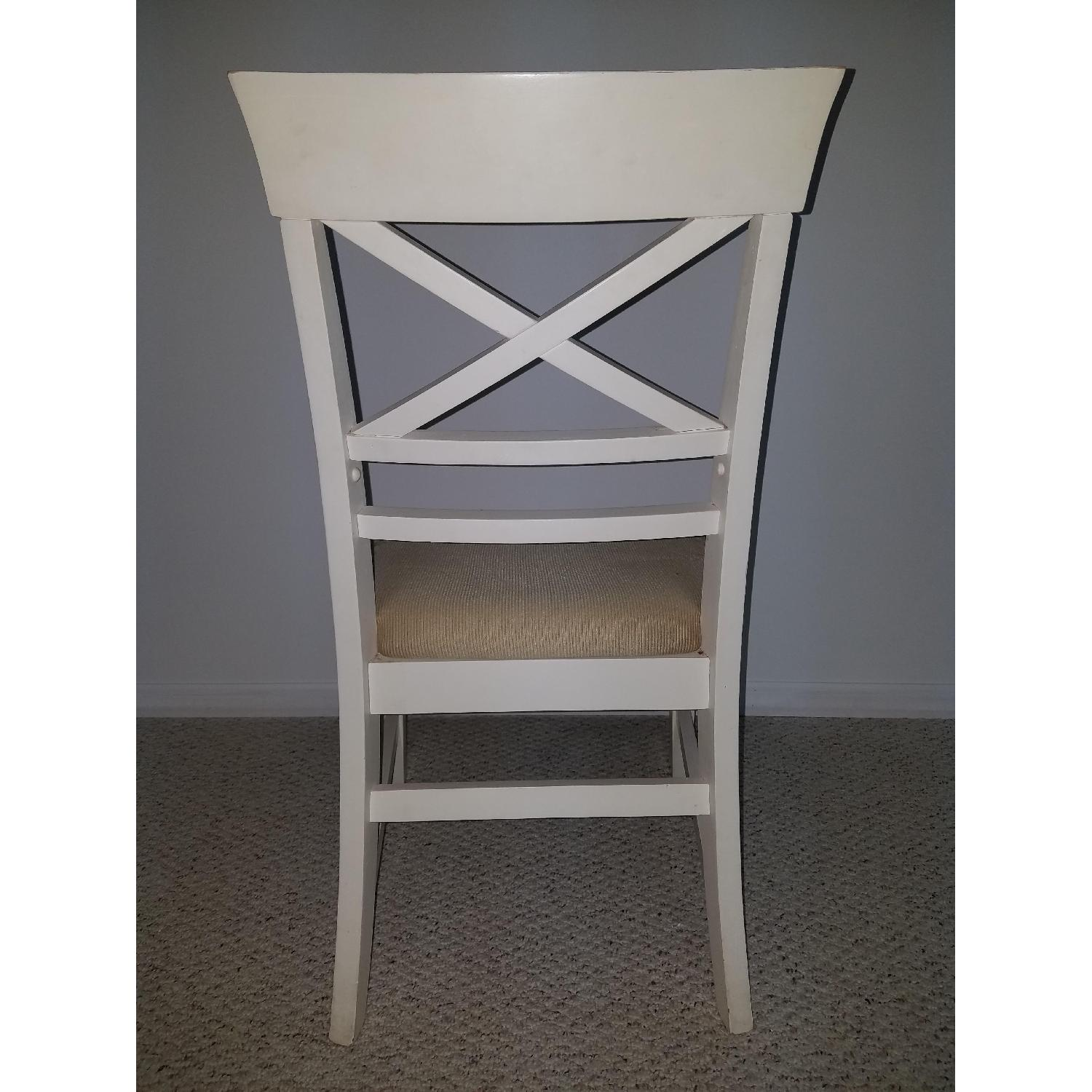 American Furniture Store White Dining Chairs-2