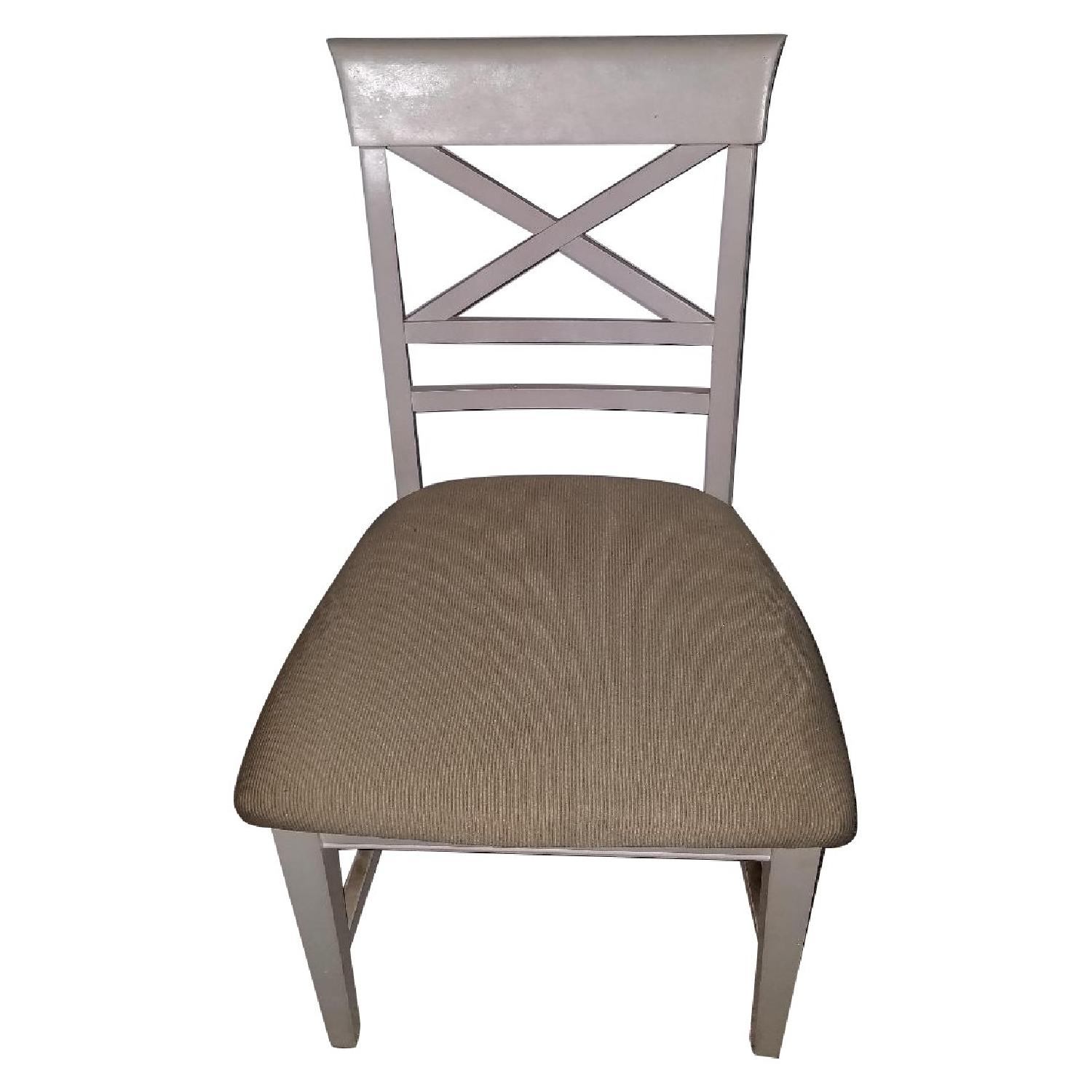 American Furniture Store White Dining Chairs