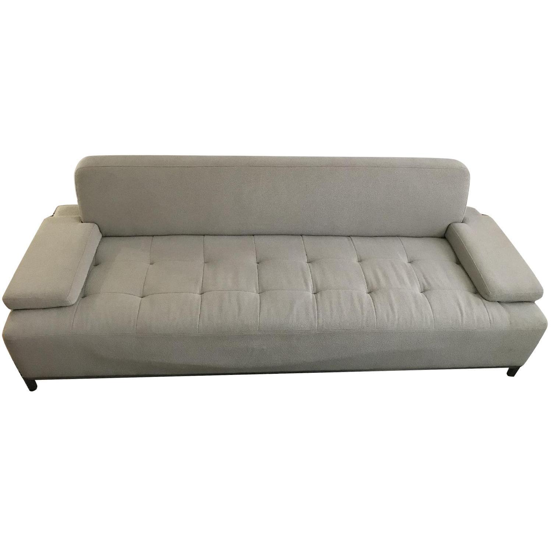 Gus Modern Gray Fabric Sofa