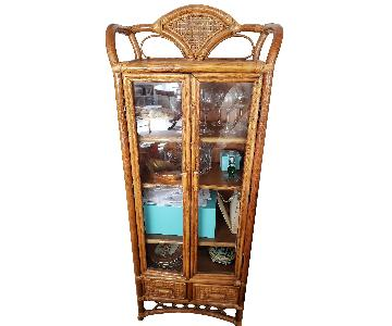 Bamboo Wicker Armoire