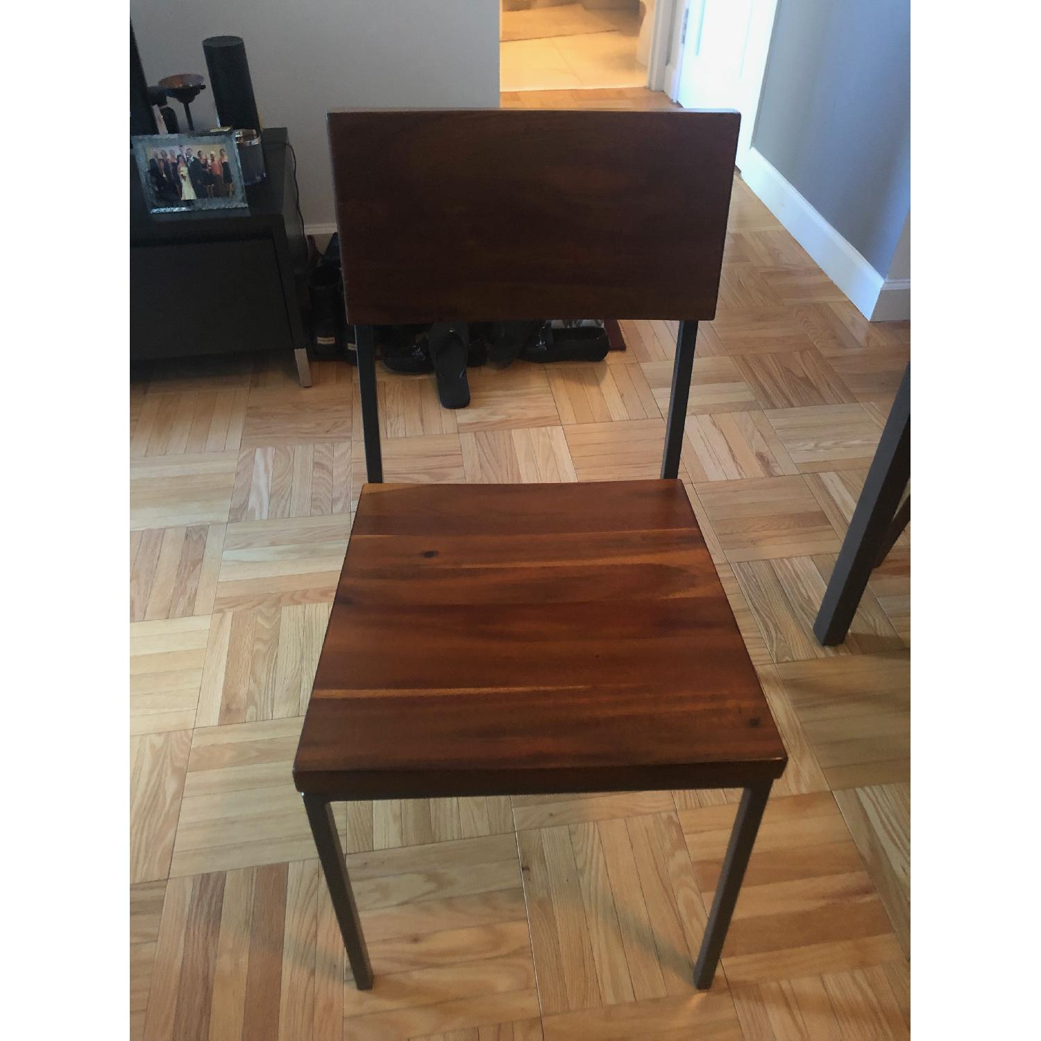 West Elm Glass Dining Table w/ 4 Chairs-2