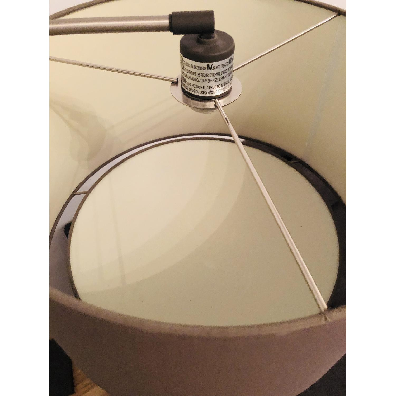 Crate & Barrel Dexter Arc Floor Lamp w/ Grey Shade-1