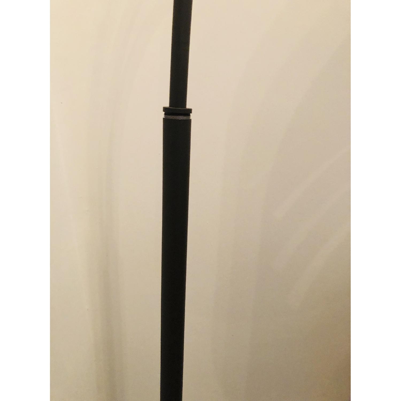 Crate & Barrel Dexter Arc Floor Lamp w/ Grey Shade-2