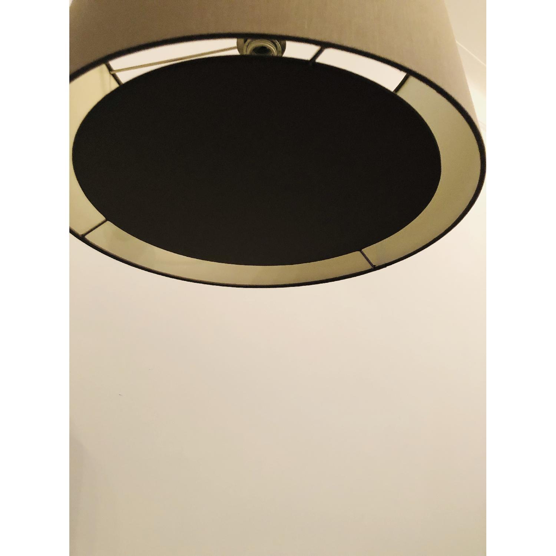 Crate & Barrel Dexter Arc Floor Lamp w/ Grey Shade-5