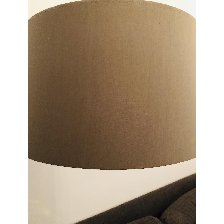 Crate & Barrel Dexter Arc Floor Lamp w/ Grey Shade-6